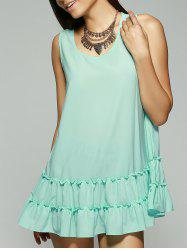 Mini Flounce Tank Dress -