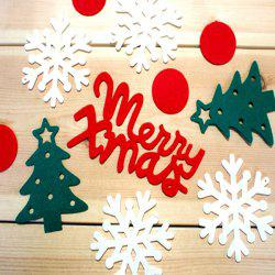 Cute Festival Decor Christmas Tree Snowflake Letter Hanging Party Supplies -