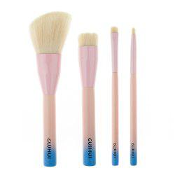 Stylish 4 Pcs Soft Nylon Face Eye Lip Makeup Brushes Set -
