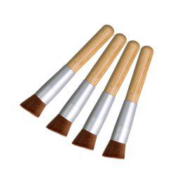 Stylish Wooden Handle Nylon Angled Foundation Brush