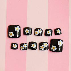 Chic 24 PCS Flower Pattern Nail Art False Toenails