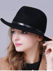 Stylish Wool Fedora Hat -