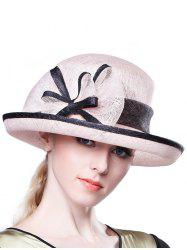 Stylish Bowknot Linen Bowler Hat