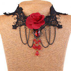 Stylish Flower Fringe Lace Choker Necklace For Women -