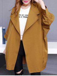 Loose Long Sleeve Trench Coat -