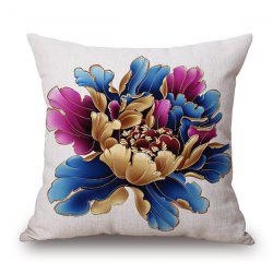 Chinese Style Peony Blossom Sofa Cushion Pillow Case -