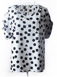 Fashionable Geometric Print Chiffon Women's Blouse