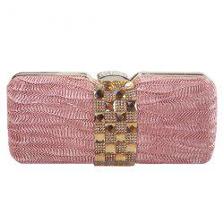 Stylish Metal and Rhinestones Design Evening Bag For Women -