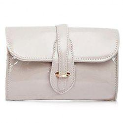 Stylish Buckle and Chain Design Crossbody Bag For Women -