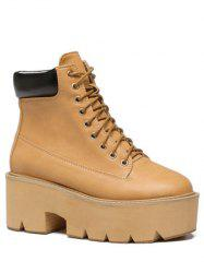 Trendy Platform and Tie Up Design Short Boots For Women -