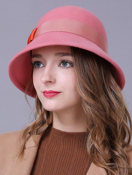 Discount Stylish Bowknot Wool Bucket Hat