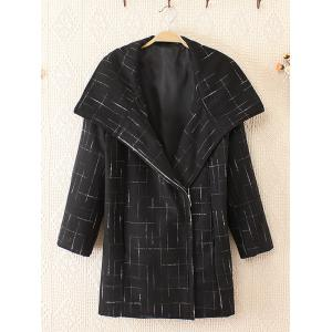 Plus Size Fashionable Big Collar Woolen Coat