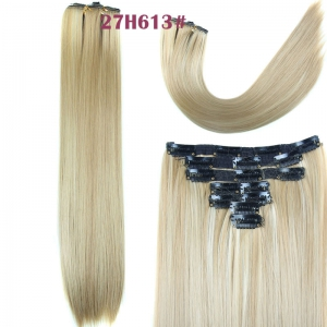 Long Straight Clip-In Synthetic Stylish Hair Extension For Women