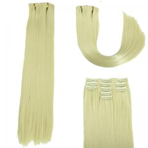 Glossy Long Straight Clip-In Synthetic Hair Extension For Women - Off-white