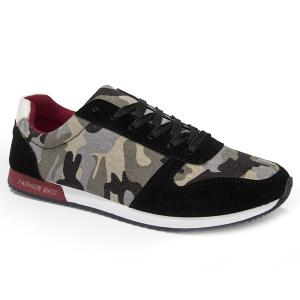 Fashion Splicing and Camouflage Pattern Design Athletic Shoes For Men