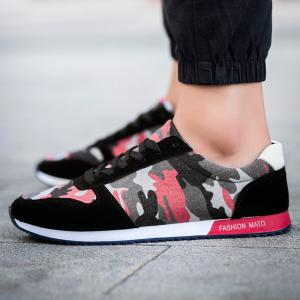 Fashion Splicing and Camouflage Pattern Design Athletic Shoes For Men -