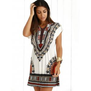 Ethnic Summer Mini Dress With Sleeves - JACINTH ONE SIZE