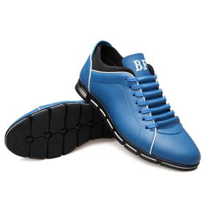 Fashion Splicing and PU Leather Design Casual Shoes For Men -
