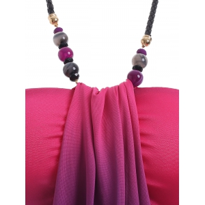 Charming Ombre Beaded Halter Tank Top For Women -