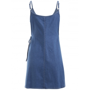 Sleeveless Wrap Cami Denim Dress -