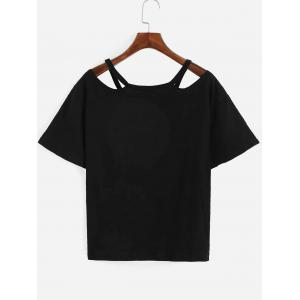Chic Pure Color Cut Out T-Shirt For Women -