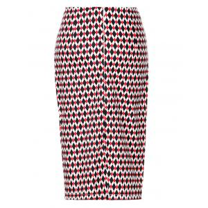 OL High Waist Argyle Bodycon Skirt For Women -