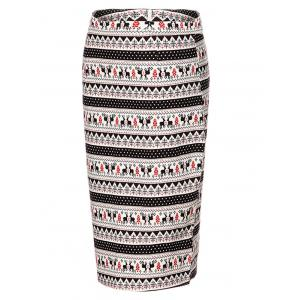 OL High Waist Deer Bodycon Skirt For Women -