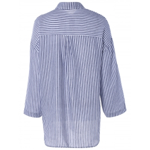 Brief Single Pocket Striped Shirt -