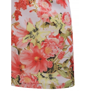 Vintage Floral Print Bodycon Dress -