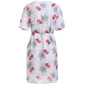 Refreshing Floral Pattern Strappy Dress -