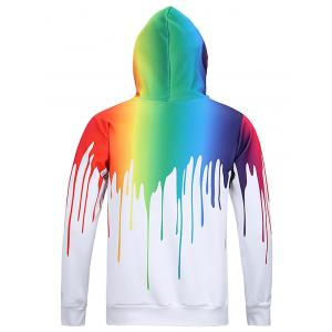 New Look Paint Splash Print Long Sleeve Hoodie For Men - WHITE 3XL