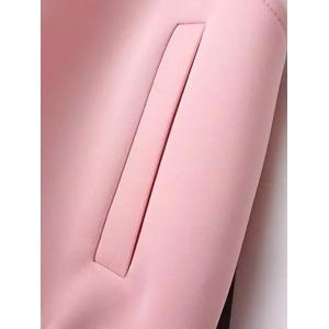 Long Sleeve Stand Collar Hit Color Jacket -