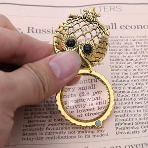 Owl Box Magnifying Glass Sweater Chain - COPPER COLOR