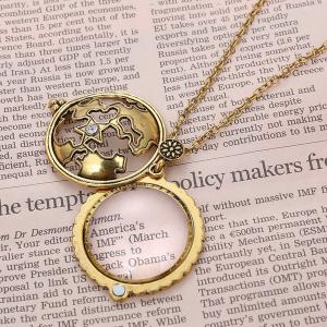 Cut Out Magnifying Glass Sweater Chain - COPPER COLOR
