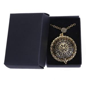 Round Filigree Magnifying Glass Sweater Chain - COPPER COLOR