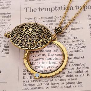 Round Filigree Magnifying Glass Sweater Chain -