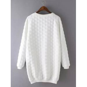 Plus Size Casual Polka Dot Pattern Sweatshirt - WHITE 3XL