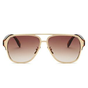 Stylish Cut Out Pilot Ombre Sunglasses For Women -