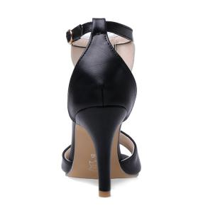 Elegant T-Strap and Color Block Design Sandals For Women -