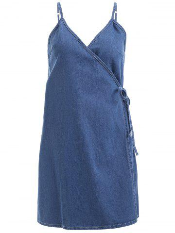 Online Sleeveless Wrap Cami Denim Dress