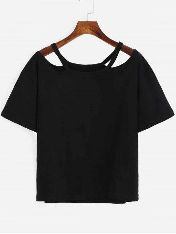 Latest Chic Pure Color Cut Out T-Shirt For Women