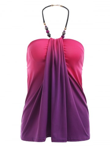 Latest Charming Ombre Beaded Halter Tank Top For Women
