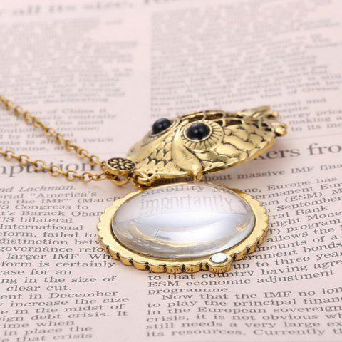 Fancy Owl Box Magnifying Glass Sweater Chain - COPPER COLOR  Mobile