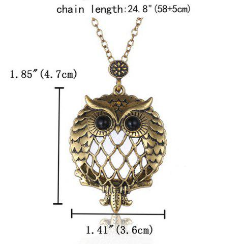 Outfit Owl Box Magnifying Glass Sweater Chain - COPPER COLOR  Mobile