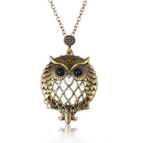 Shop Owl Box Magnifying Glass Sweater Chain COPPER COLOR