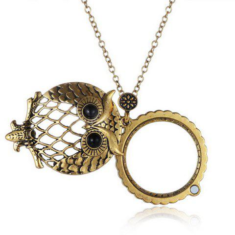 Hot Owl Box Magnifying Glass Sweater Chain - COPPER COLOR  Mobile