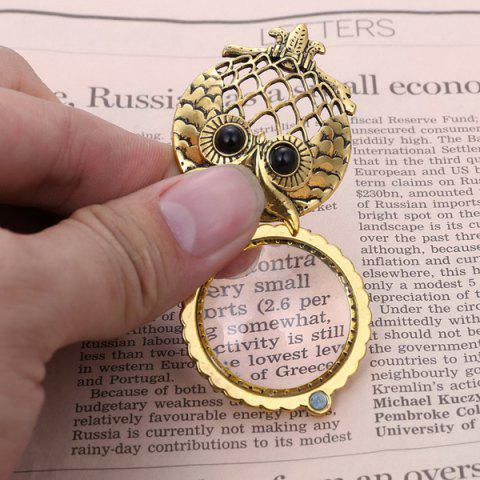Discount Owl Box Magnifying Glass Sweater Chain - COPPER COLOR  Mobile