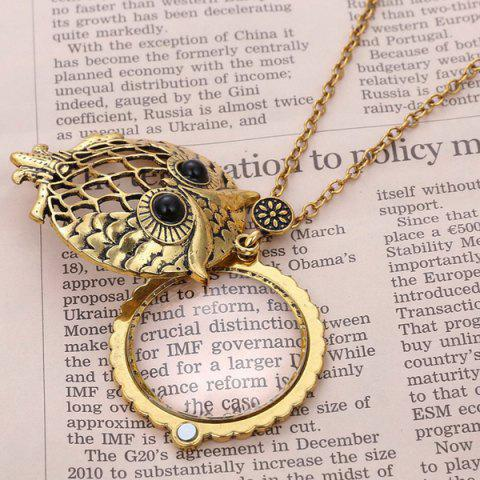 Affordable Owl Box Magnifying Glass Sweater Chain - COPPER COLOR  Mobile