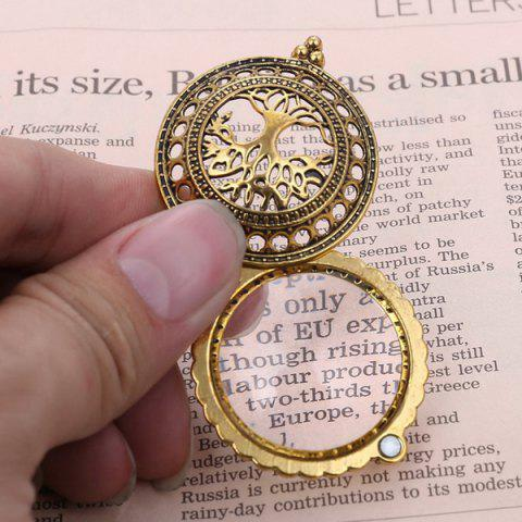 Affordable Cut Out Life Tree Magnifying Glass Sweater Chain - COPPER COLOR  Mobile