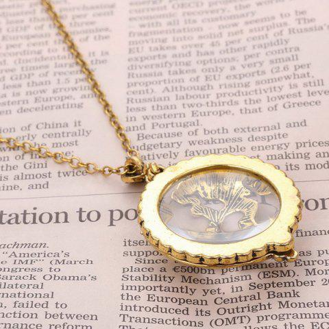 Online Cut Out Magnifying Glass Sweater Chain - COPPER COLOR  Mobile